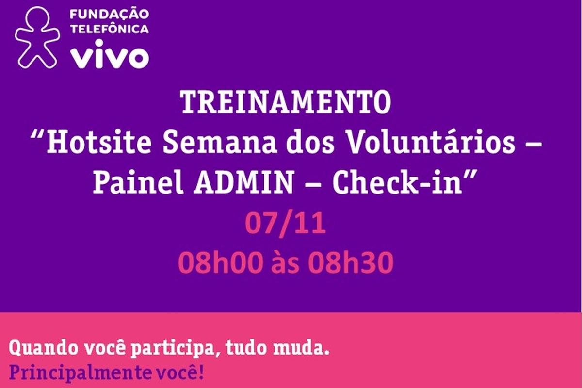 Hotsite SVT - Treinamento Check-in - Turma V
