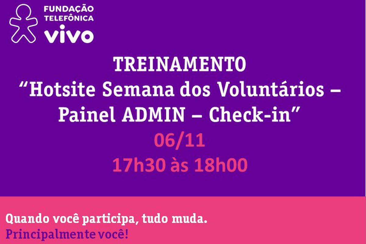 Hotsite SVT - Treinamento Check-in - Turma IV