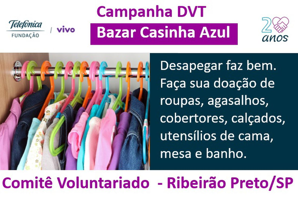 Campanha de Arrecadação DVT - Bazar Casinha Azul