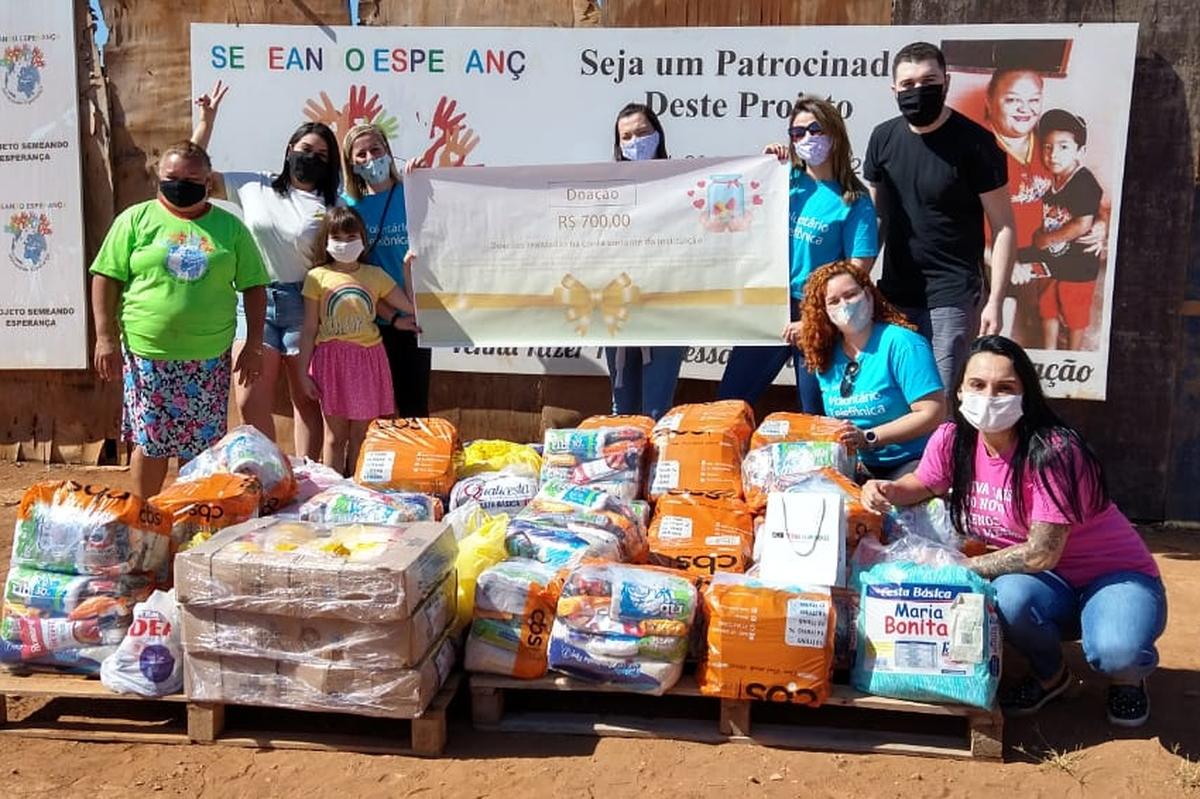 Entrega da Campanha de doação de alimentos e cestas básicas