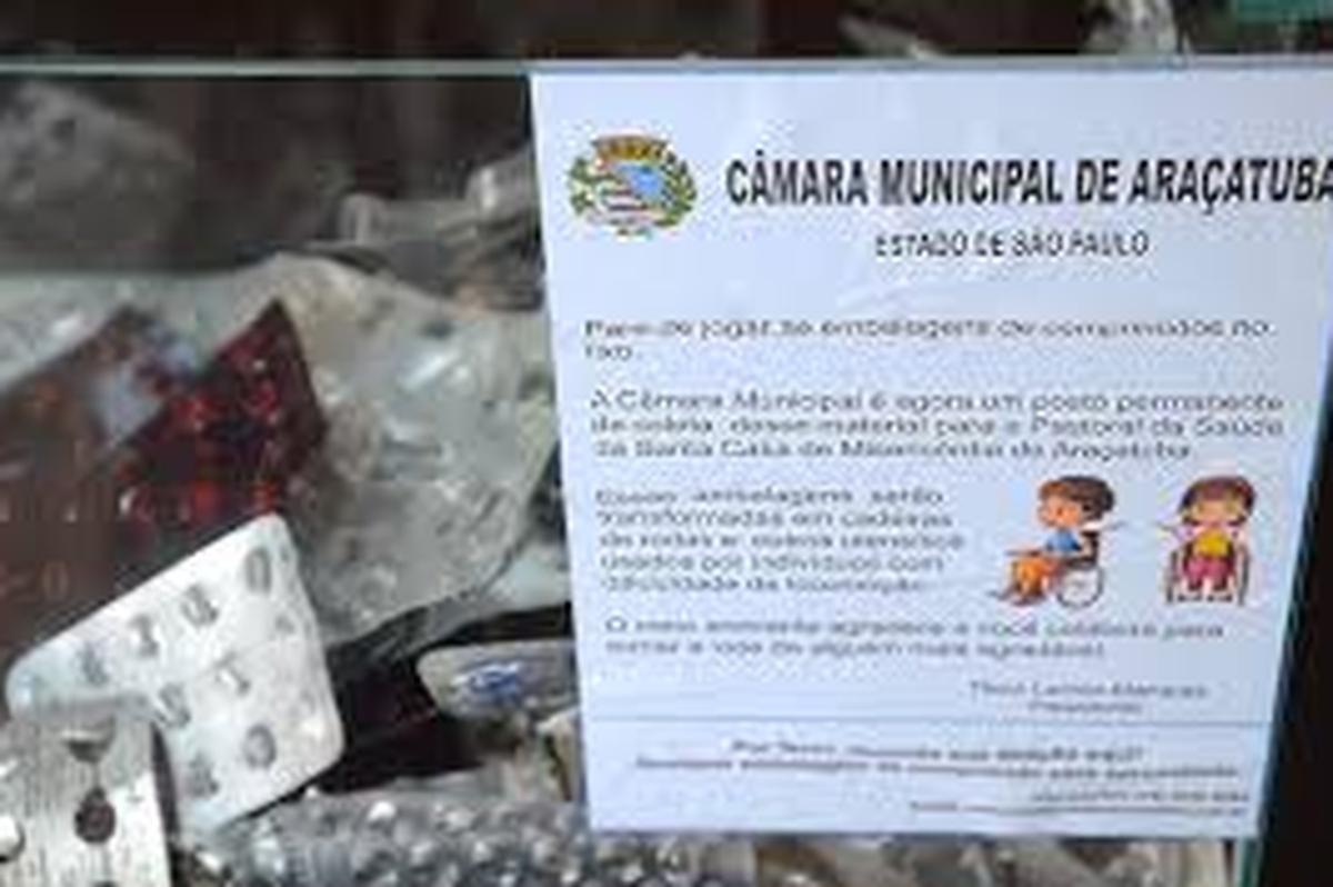 Cartelas de remédios vazias em apoio à base ARU